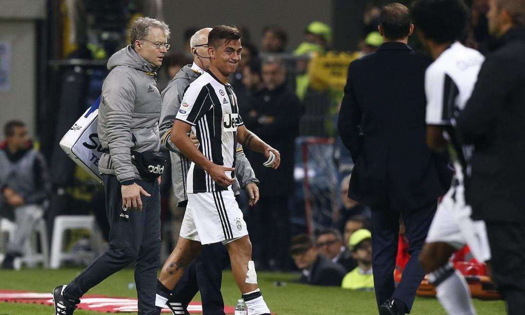 Infortunio Dybala: la diagnosi dell'infortunio