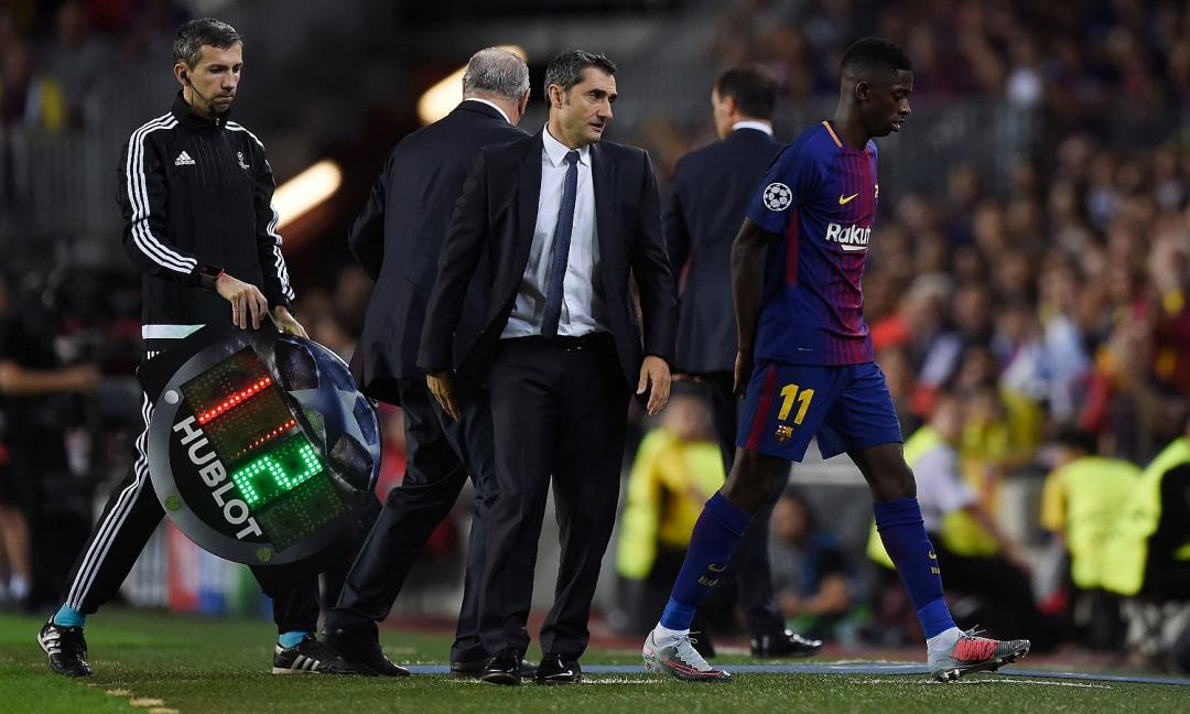 Barcellona: out Dembelè per infortunio