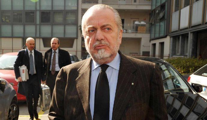 De Laurentiis: 'Incontro per Icardi? Stupidaggini'. Poi difende Agnelli