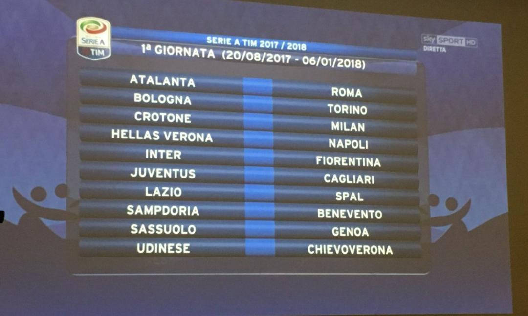 Calendario Serie A 1 Giornata.Calendario Serie A Anticipi E Posticipi Della 1 E 2