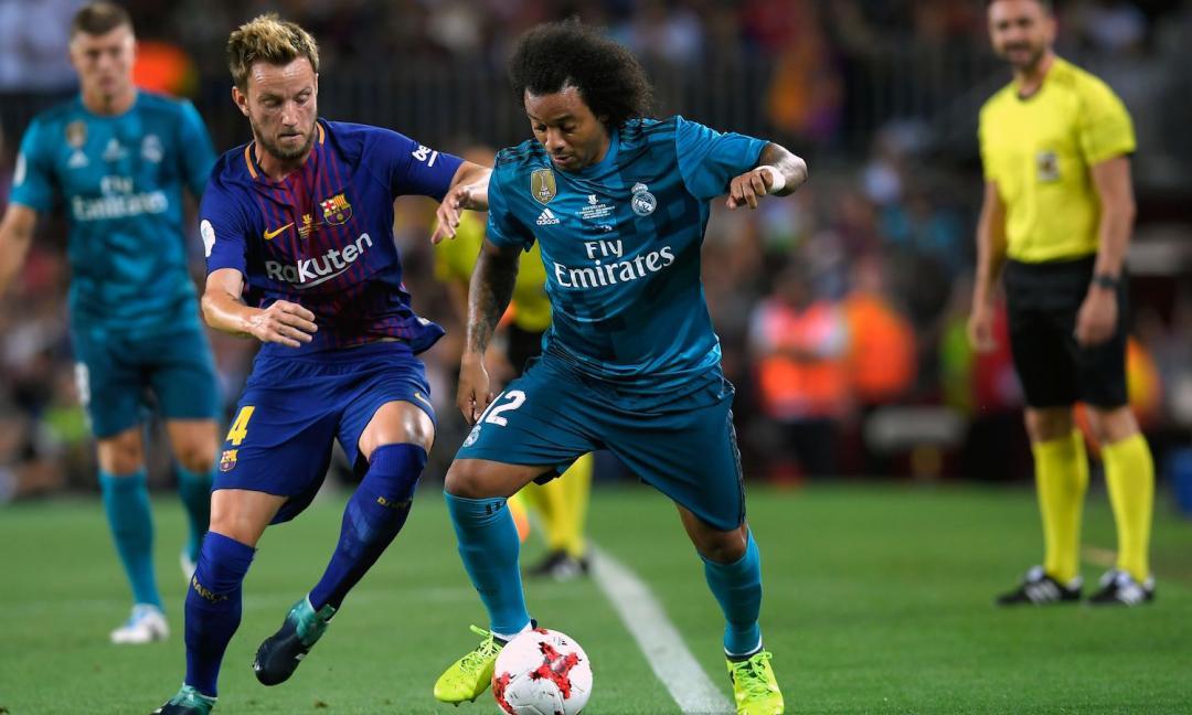 Juve, Marcelo si allena con il Real Madrid FOTO