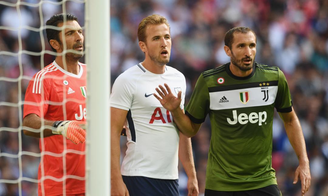 Chiellini da record, sorpasso Boniperti: supereroe anti Harry Kane per la Juve