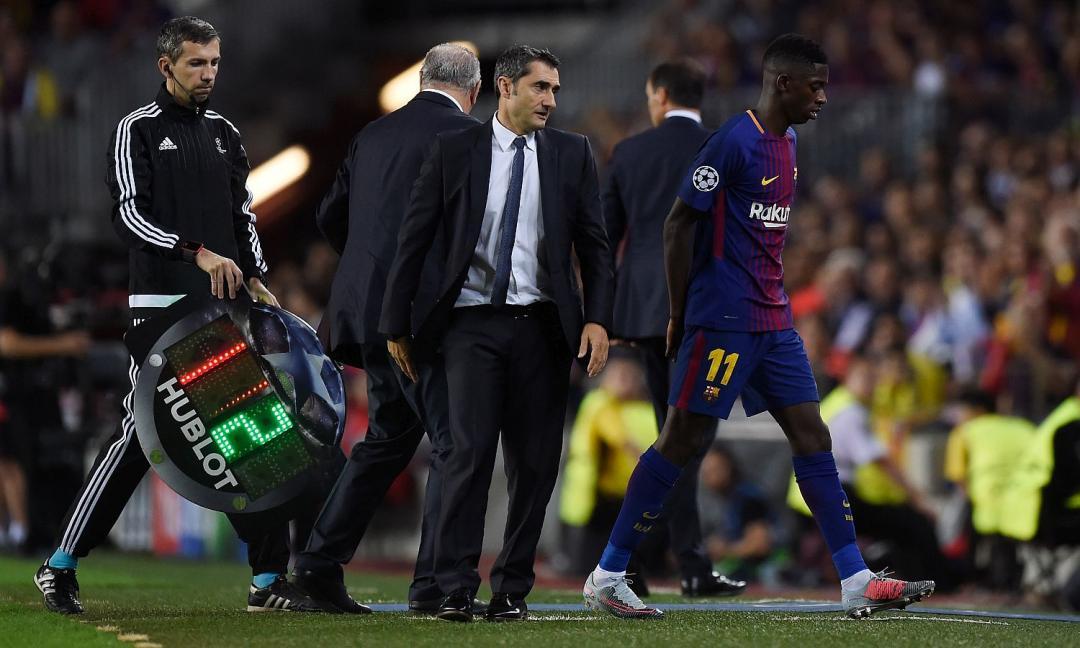 Barcellona: out Dembelè per infortunio