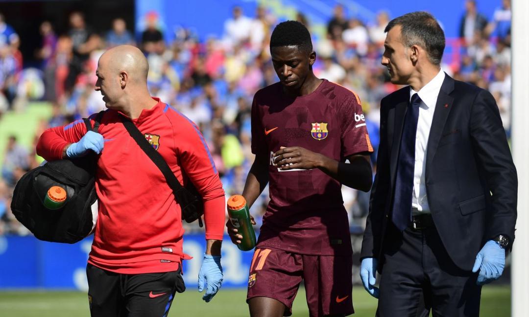 Il Barcellona piange: Dembelé fuori 3-4 mesi