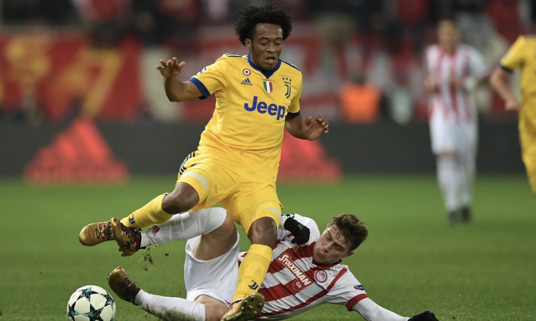 Olympiacos-Juventus 0-2, pagelle: Cuadrado 'pesante', sbaglia Benatia