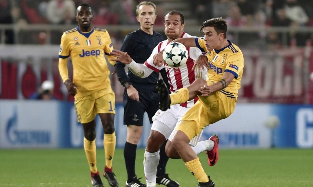 Olympiacos-Juve, le pagelle dei quotidiani: super Szczesny, male Dybala