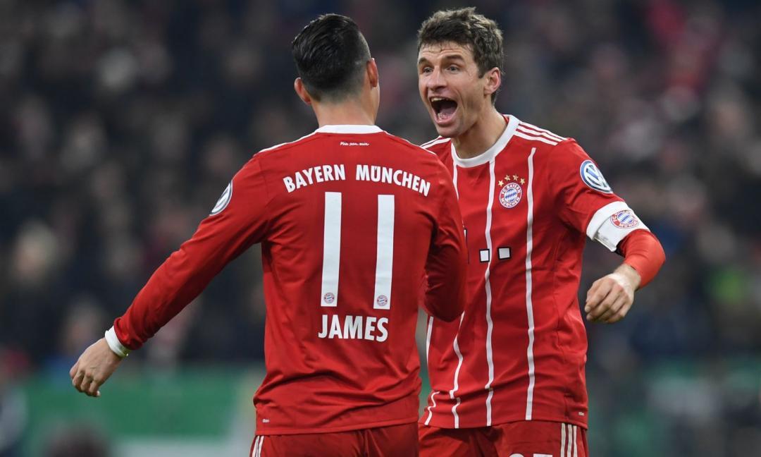 Juve, hai visto James? Punizione da urlo! Il Bayern vince VIDEO