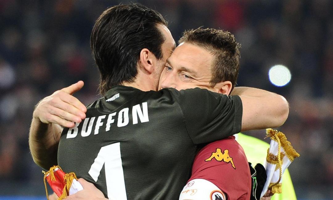 Totti scrive a Buffon: 'Straziante chiudere il cerchio. Ci sarò sempre!'