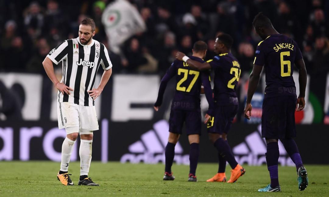 Juve-Tottenham 2-2, pagelle: Higuain luci e ombre, Chiellini non è lucido