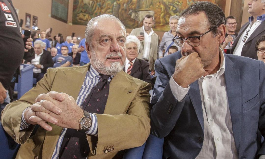 De Laurentiis: 'Sarri urla e bestemmia, come si adeguerà allo stile Juve?'