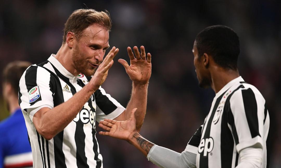 Juve-Samp 3-0, pagelle: Douglas spacca la partita, prima gioia per Howedes
