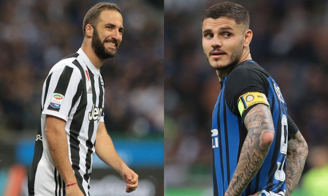 Juve e Inter, due mondi opposti: Higuain sorride sempre, Icardi distrutto e svalutato
