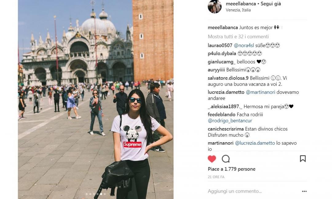 Bentancur sceglie il romanticismo: in vacanza con Mel a Venezia GALLERY