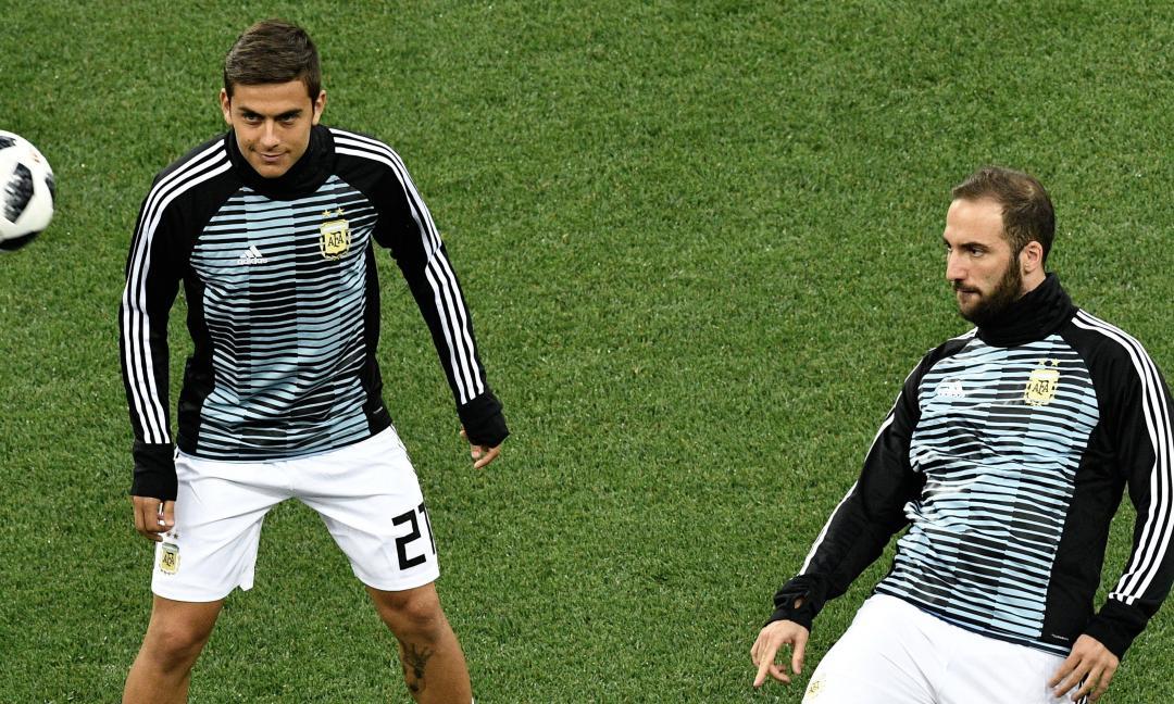 Higuain di nuovo scaricato: stavolta ci pensa l'Argentina. E Dybala...