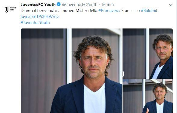 UFFICIALE: Baldini è il nuovo allenatore della Juve Primavera