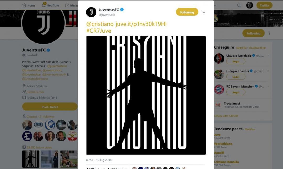 RONALDO, UN ANNO FA: la Juve annuncia 'Cris7iano', tutte le emozioni del colpo