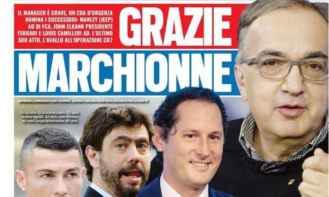 Via libera a Ronaldo, 'grazie Marchionne': le prime pagine dei quotidiani