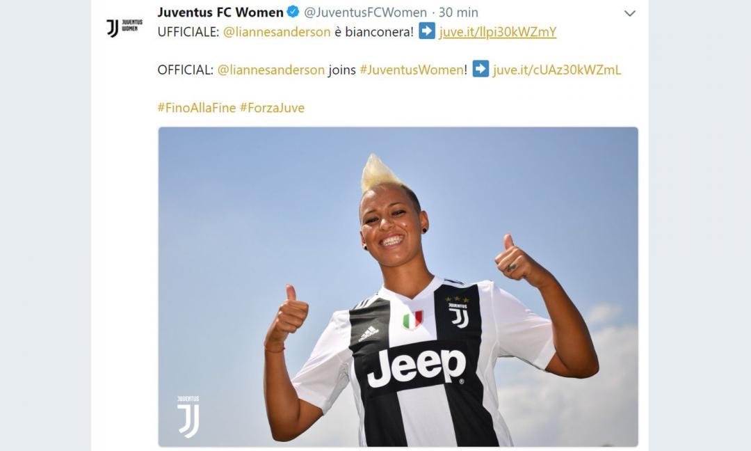 Juventus Women, UFFICIALE: ha firmato Sanderson!