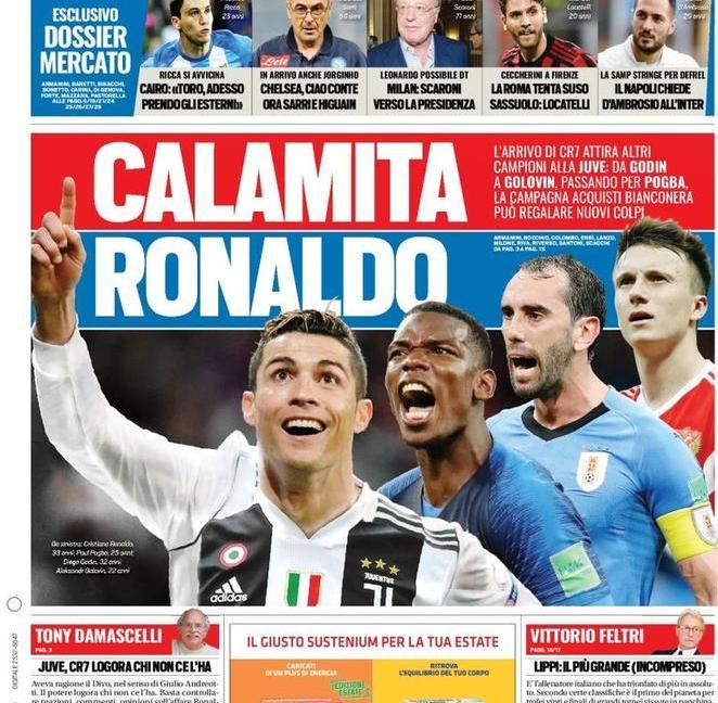 'Juve, c'è anche Marcelo', con Pogba è 'calamita CR7': le prime pagine dei quotidiani