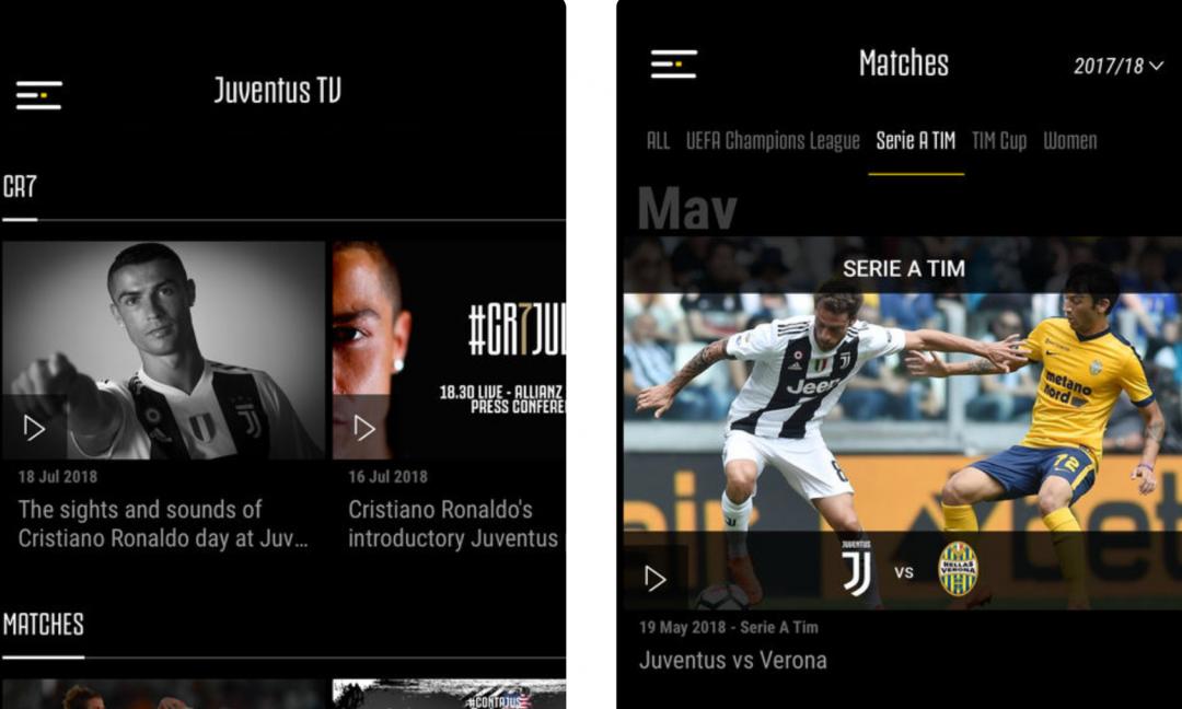 Juventus TV, la nuova piattaforma: visibili tutti i match completi, i prezzi