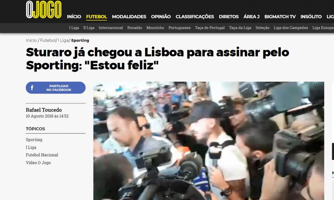 Juve, Sturaro è a Lisbona: visite nelle prossime ore con lo Sporting FOTO