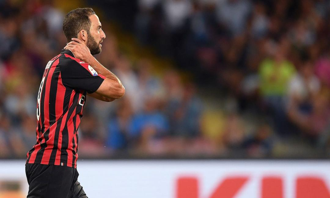 Higuain, le percentuali di recupero per Milan-Juve