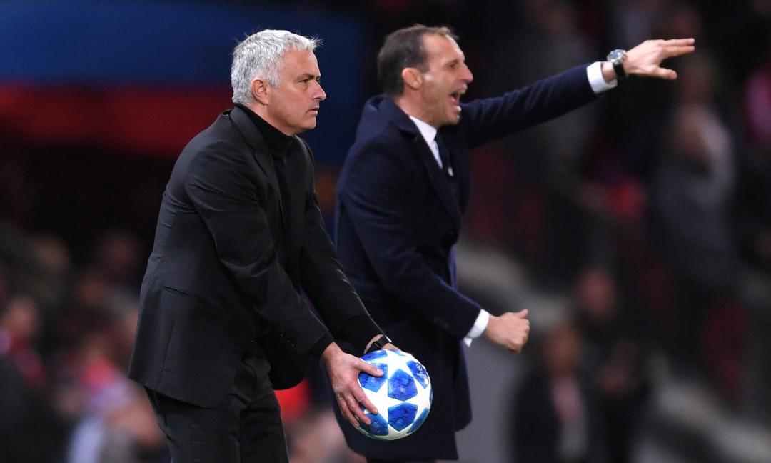 Precedenti Allegri contro Mourinho: in vantaggio lo Special One