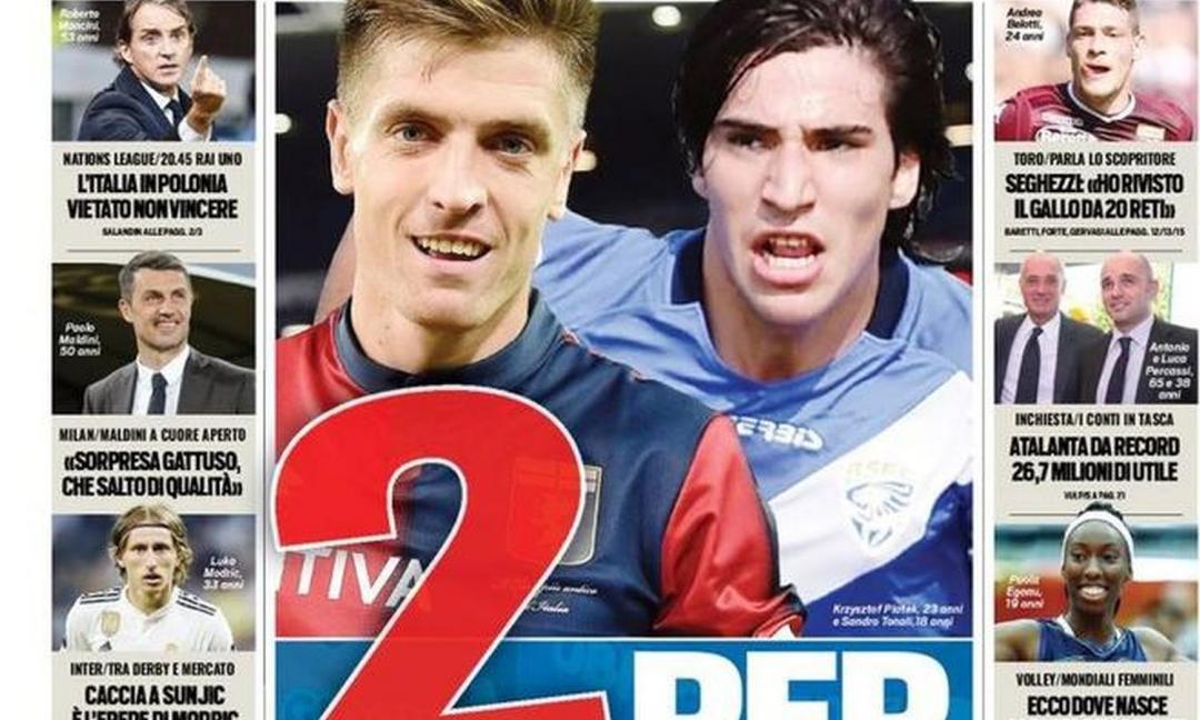 Piatek e non solo: 'due per la Juve'! Le prime pagine dei quotidiani