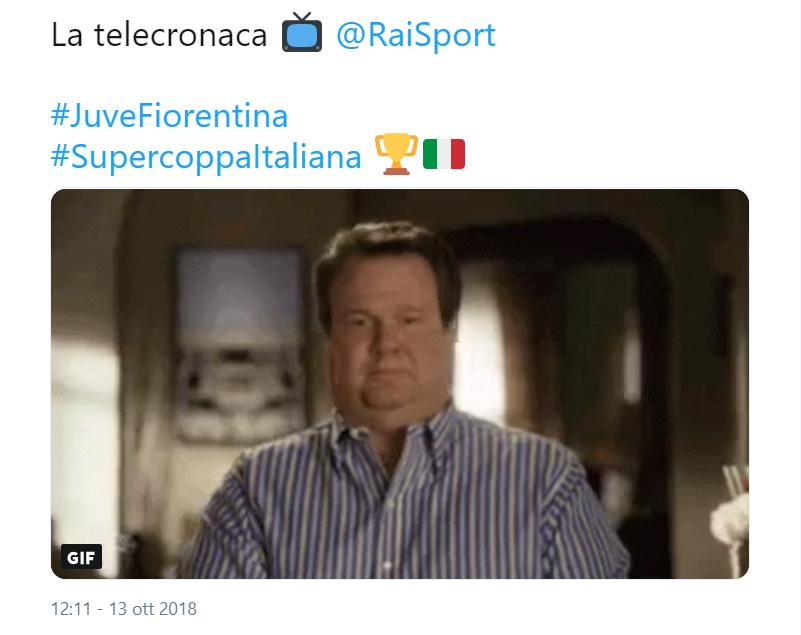 Juve-Fiorentina, polemiche social per la telecronaca della RAI