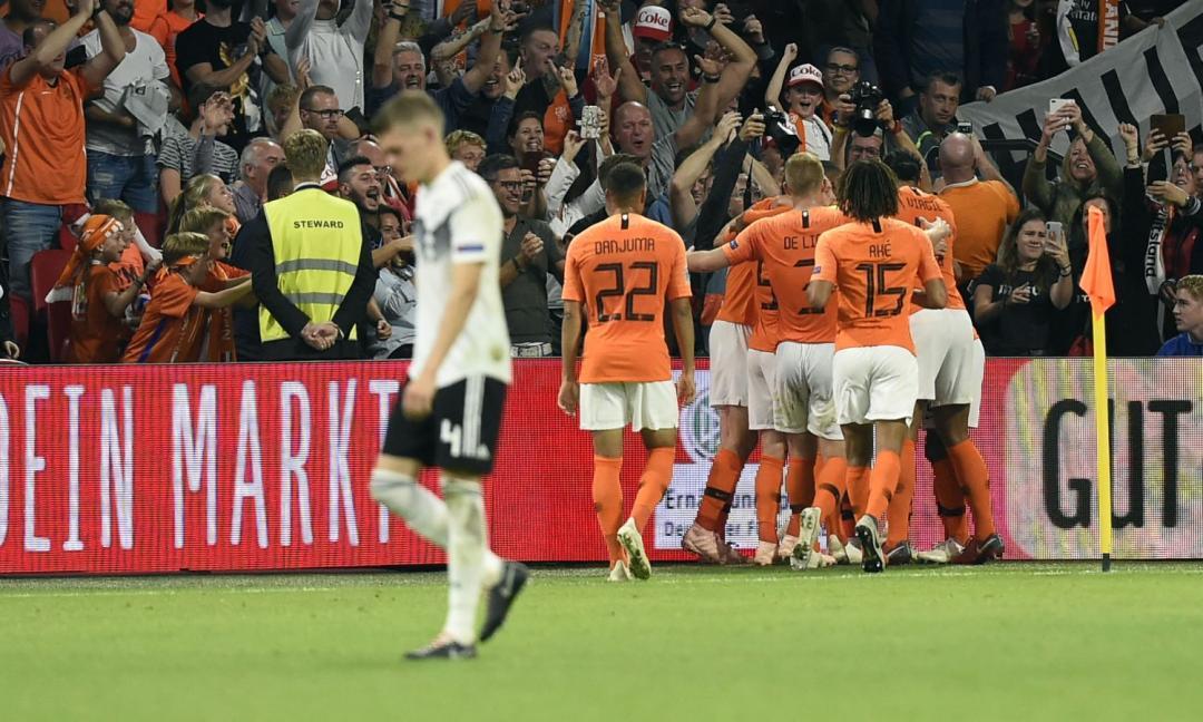 Olanda-Germania 3-0: tracollo tedesco, Emre Can in campo per 60'