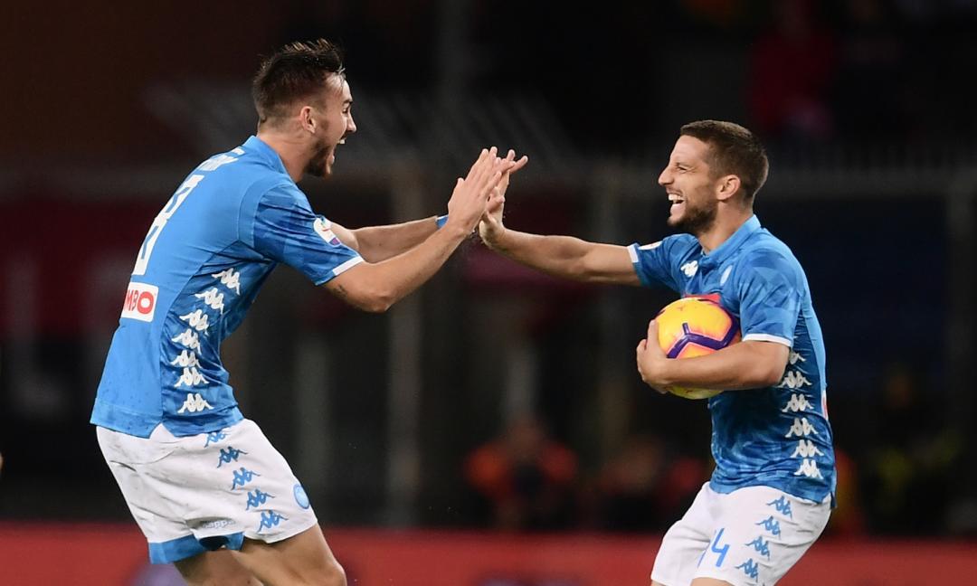 Genoa-Napoli 1-2, match sospeso per pioggia, decide un autogol: Ancelotti a -3 dalla Juve
