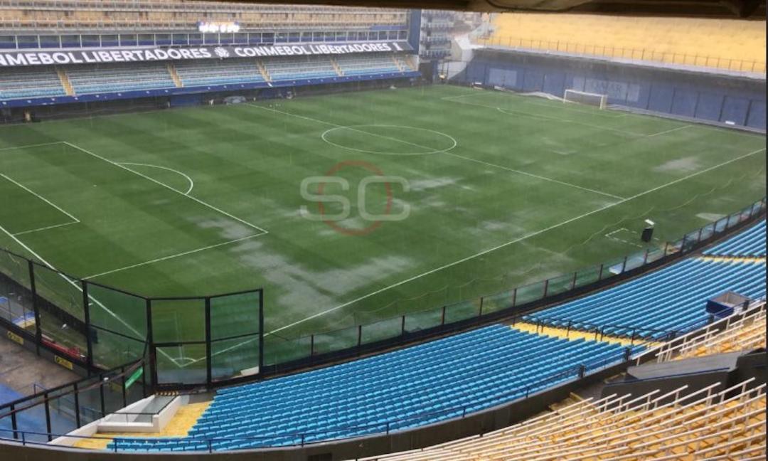 Boca-River rinviato per pioggia, ironia social: 'Collina avrebbe fatto giocare'