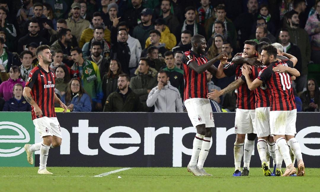Europa League: qualificazione per Lazio e Chelsea, pari Milan col Betis