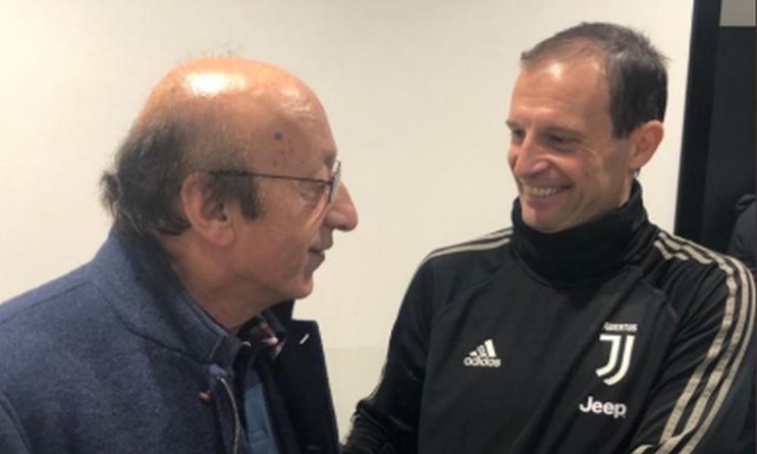 Moggi: 'Allegri resterà alla Juve'