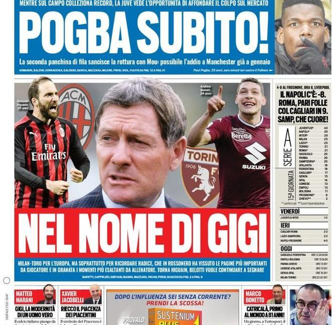 'Juve, Pogba arriva subito': le prime pagine dei quotidiani