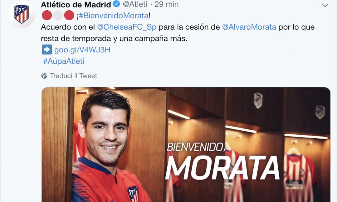 Morata: 'Atletico, ti sognavo. Juve? Ho parlato con gli ex compagni'