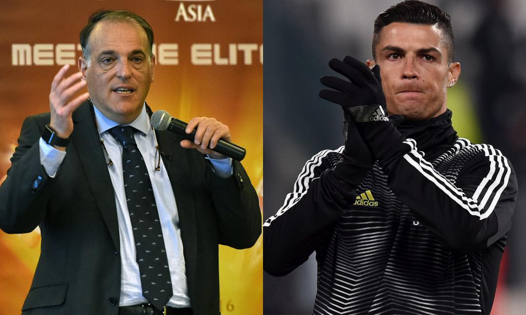 Tebas, presidente della Liga: 'Vorrei che CR7 tornasse in Spagna'