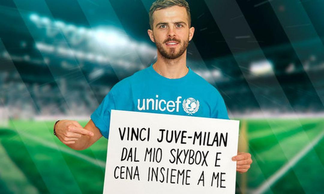 Pjanic insieme a Unicef: come vincere i biglietti per Juve-Milan VIDEO