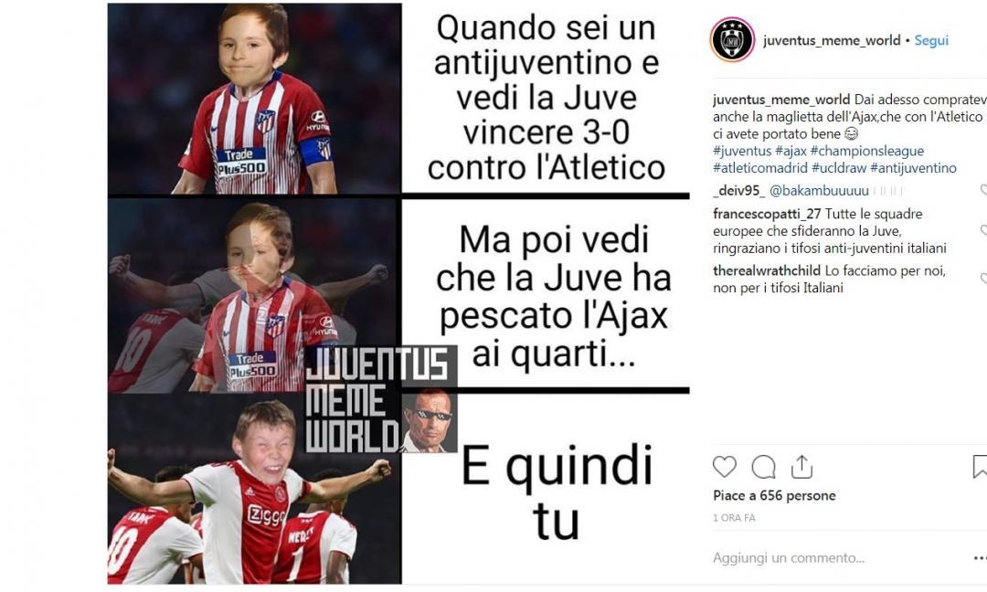 Sarà Juve contro Ajax: le reazioni dei tifosi bianconeri sui social GALLERY