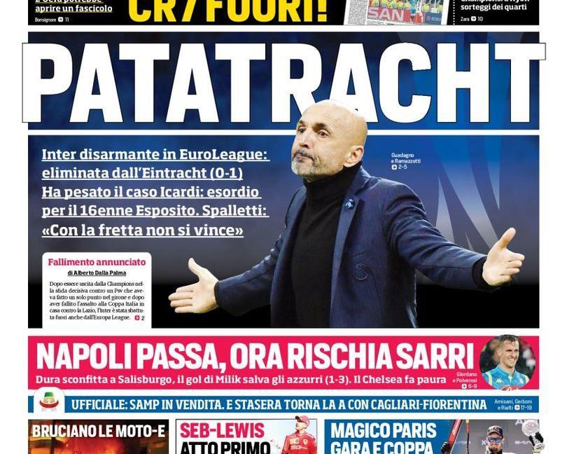 'Giù le mani da Ronaldo', 'Vogliono CR7 fuori': le prime pagine di oggi