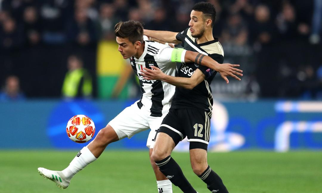 Infortunio per Dybala: fuori all'intervallo di Juve-Ajax