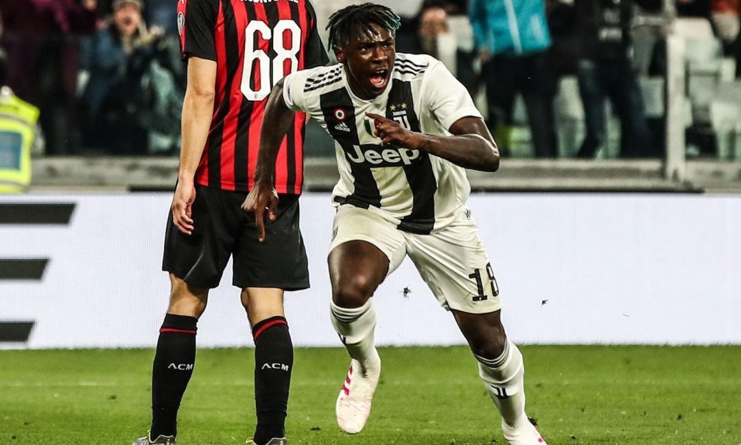 Juve-Milan: mani-comio più Kean