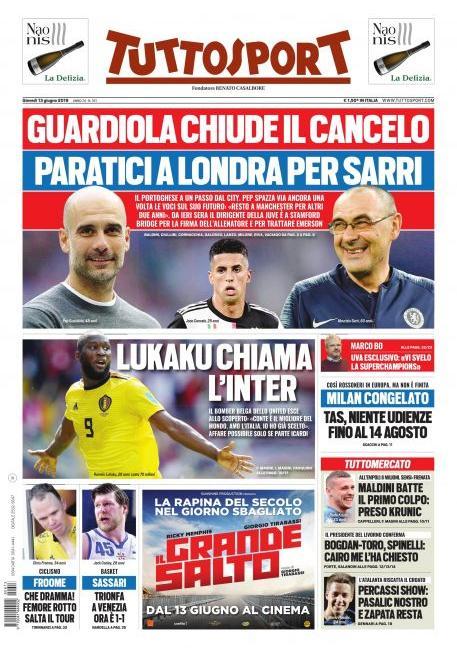 Guardiola, Paratici, Sarri e tutto su Icardi: prime pagine esplosive