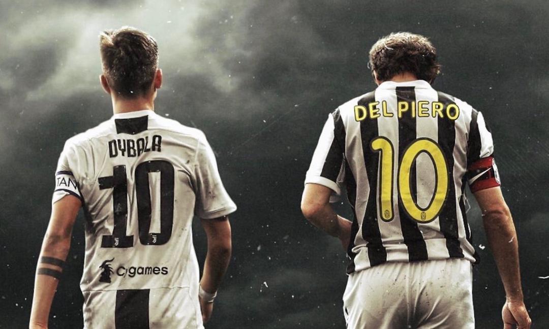 Dybala incontra Del Piero a Torino: il post della Joya
