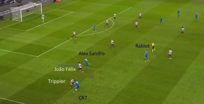 Ronaldo sottotono contro l'Atletico: le 'catene' della Juve a confronto