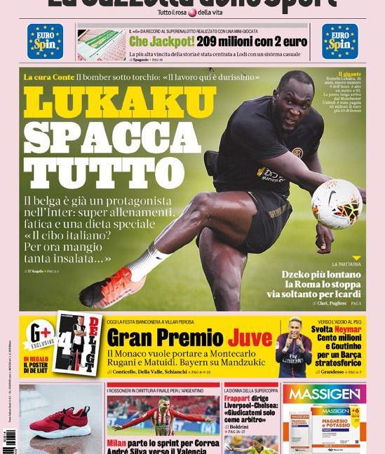 'Dybala, esame d'amore' e 'La Juve blocca tutto': le prime pagine