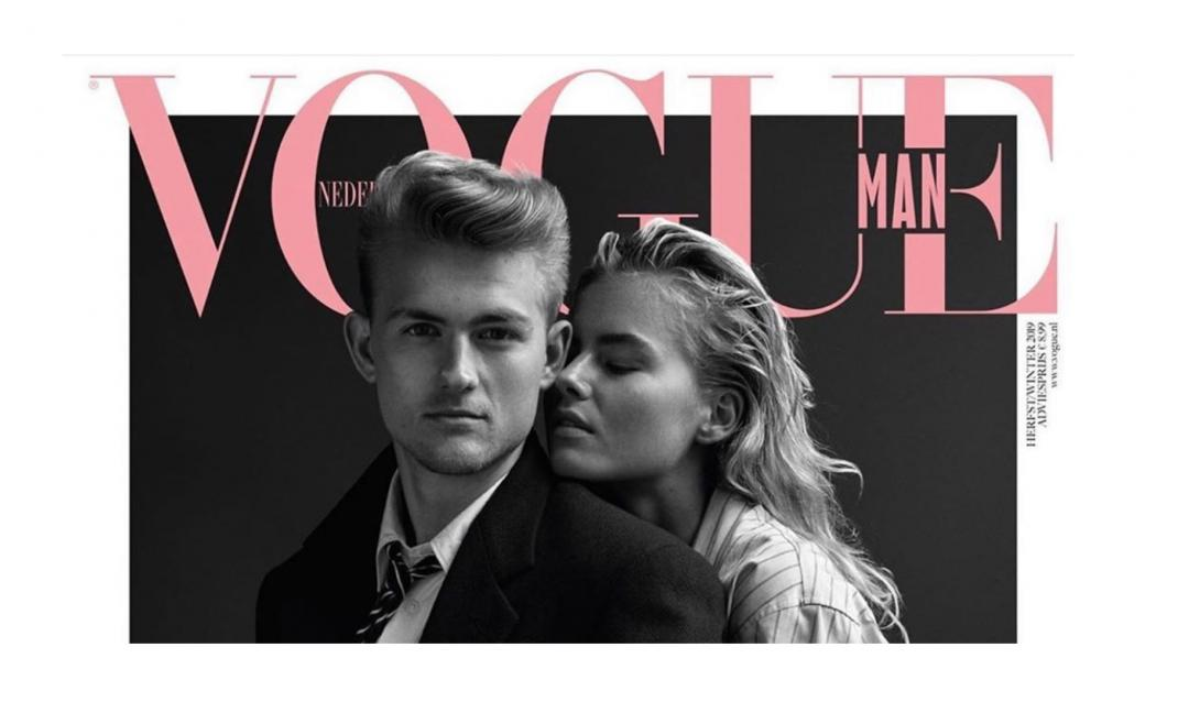 De Ligt e Annekee icone fashion in Olanda: sono in copertina su Vogue VIDEO e FOTO