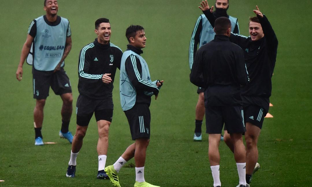Allenamento Juve: gol di Dybala e Ronaldo, sorpresa alla Continassa FOTO e VIDEO