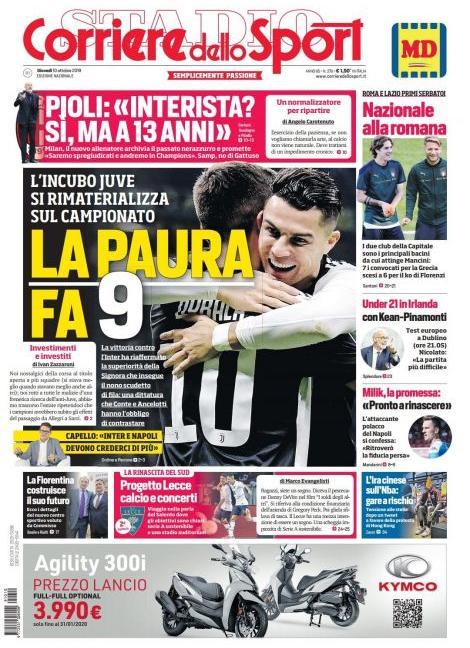 'L'incubo Juve si rimaterializza' e Buffon: 'Tornato per la Champions': le prime pagine