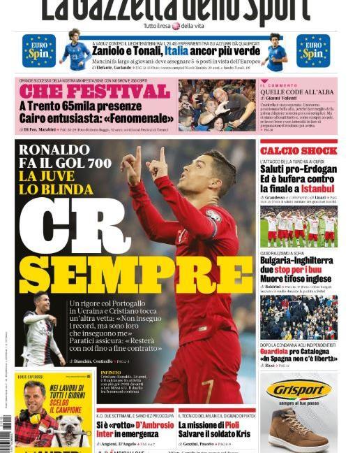 Sfida Juve-Inter per Rakitic a gennaio, 'Eurecord': le prime dei quotidiani